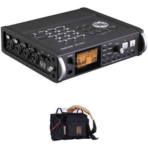 Tascam DR-680 8-Track Portable Field Audio Recorder and Porta Brace AR-DR680B Case Kit