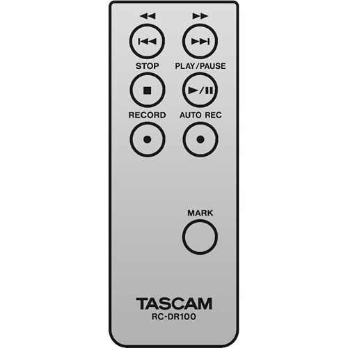 Tascam RC-DR100 Remote Control for DR-100
