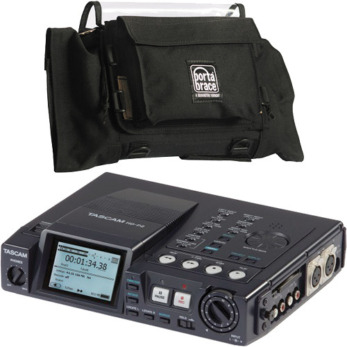 Tascam HD-P2 Portable Stereo CF Recorder with Porta Brace Case Kit