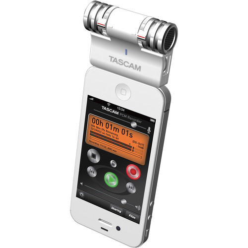 Tascam iM2 Stereo Microphone for Apple iOS Products (White)