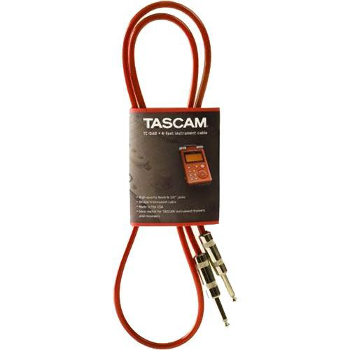 Tascam TC-04R Translucent Audio Cable 4' (Red)