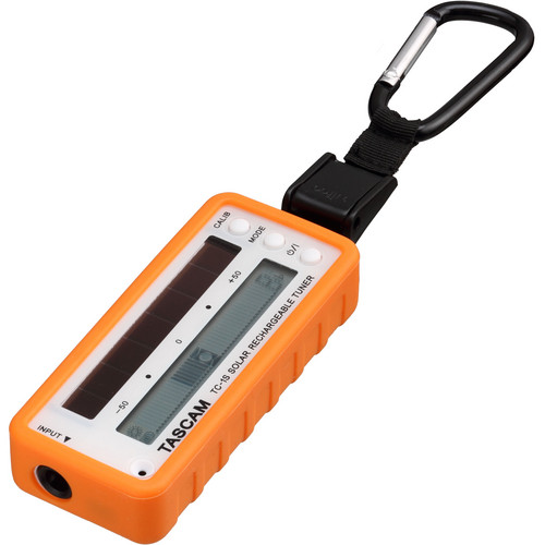 Tascam TC-1S - Solar Rechargeable Instrument Tuner (Orange)