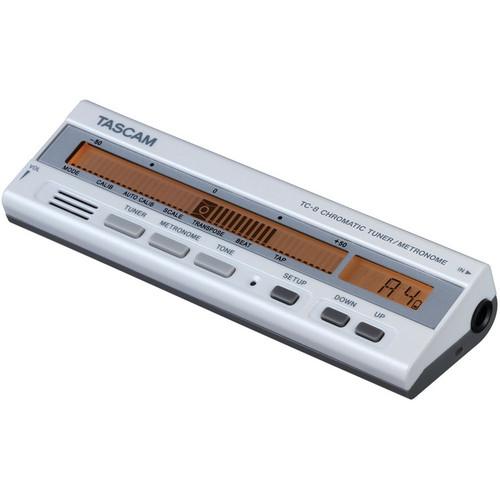 Tascam TG-8 - Chromatic Tuner/Metronome (White)