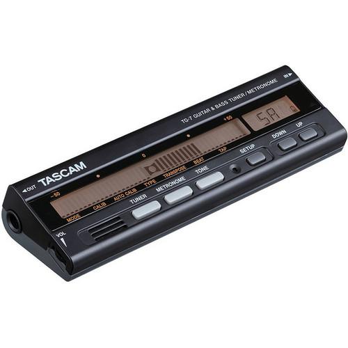 Tascam TG-7 - Guitar/Bass Tuner/Metronome (Black)