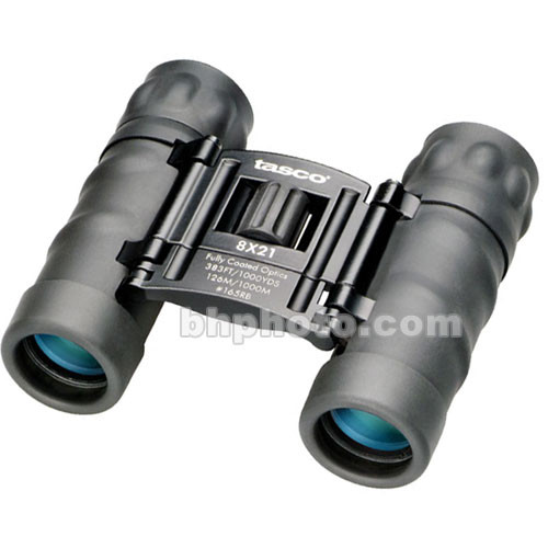 Tasco 8x21 Essentials Compact Binocular (Black, Clamshell Packaging)