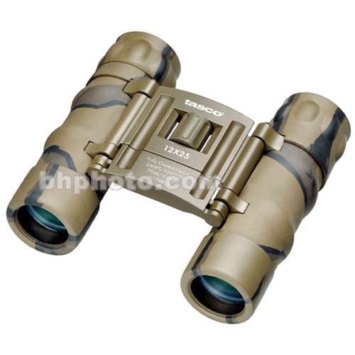 Tasco 12x25 Essentials Binocular (Brown Camo, Clamshell Packaging)
