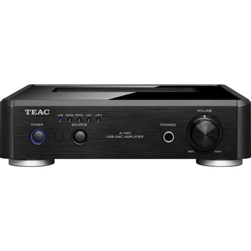 Teac AH01-B Stereo Pre-Main Amplifier w/ D/A Converter (Black)