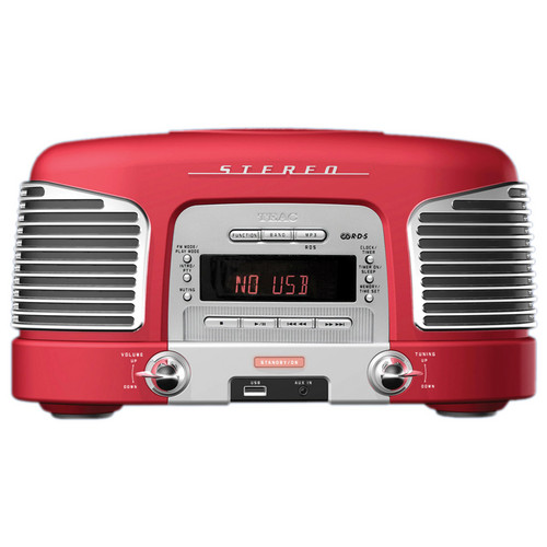 Teac SL-D920R Nostalgic CD-Radio (Red)