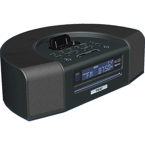 Teac SR-L280I-B iPod/iPhone Dock Table Radio w/ USB Input (Black)