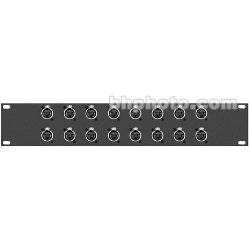 TecNec 16XRJ45 Patchbay, Sixteen RJ-45 Connectors, Rackmountable (1RU)