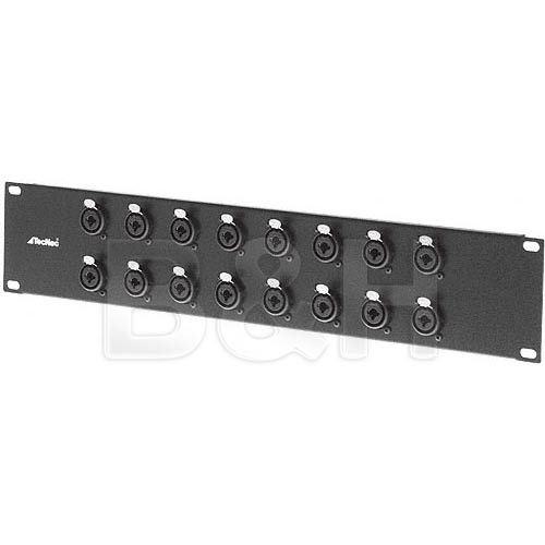 "TecNec PB16-XLQ 16-Channel 1/4"" & XLR Patch Bay"