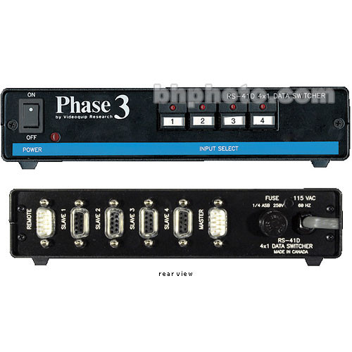 TecNec RS-41D 4x1 Data Routing Switcher