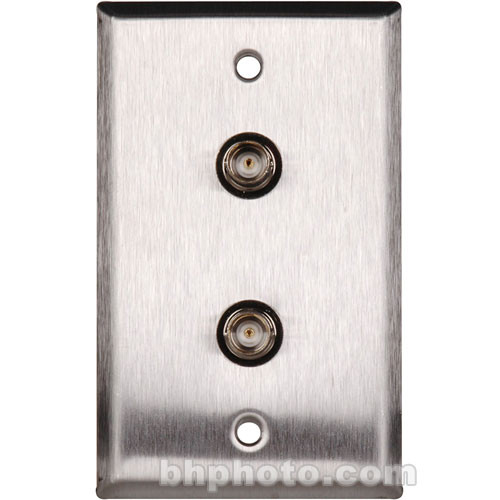 TecNec WP-L1102 One-Gang Wall Plate with Two Recessed Female BNC Connecters