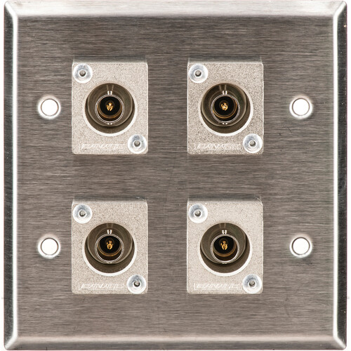 TecNec WPL-2108 2-Gang Wall Plate w/4 BNC Connectors