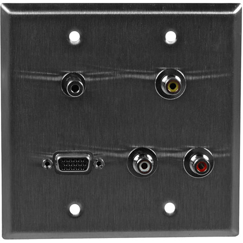 TecNec WPL-2122-FT 2 Gang Wall Plate