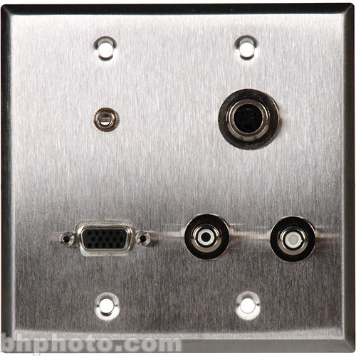 TecNec WPL-2124 2-Gang Wall Plate