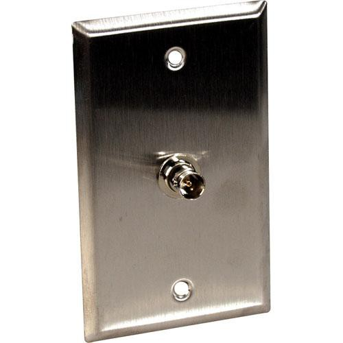 TecNec WPL-1101 Stainless Steel 1-Gang Wall Plate with Female 75 Ohm BNC Connector