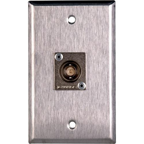 TecNec WPL-1103 Stainless Steel 1-Gang Wall Plate with Female 75 Ohm BNC Canare BCJ-JRU Connector
