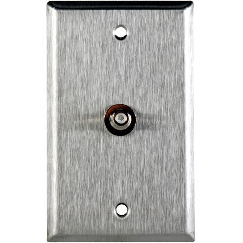 TecNec WPL-1105 Stainless Steel 1-Gang Wall Plate with RCA Feed-Thru Connector