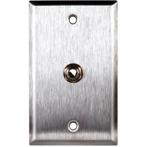 "TecNec WPL-1109 Stainless Steel 1-Gang Wall Plate with 1/4"" TRS Phone Jack"