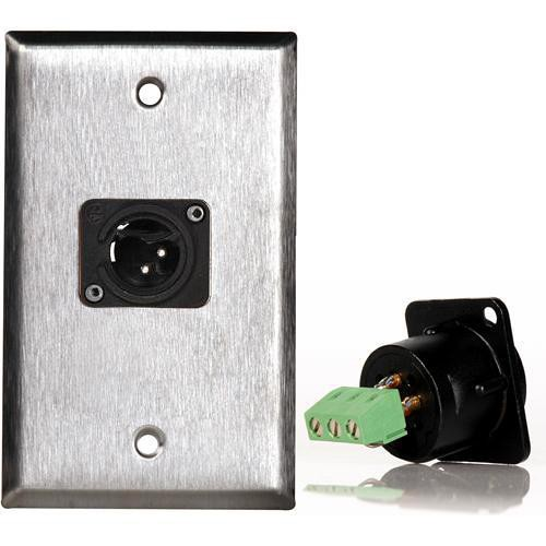 TecNec WPL-1113TB Stainless Steel 1-Gang Wall Plate