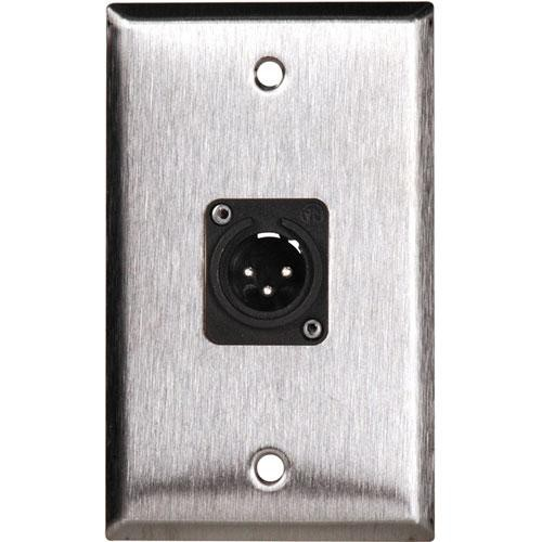 TecNec WPL-1113 1-Gang Wall Plate with Male 3-Pin XLR
