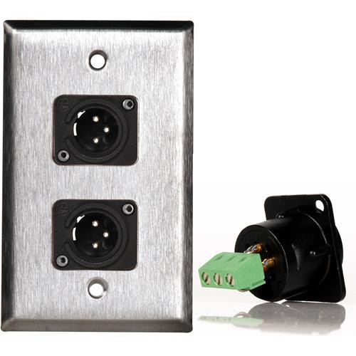 TecNec WPL-1114TB Stainless Steel 1-Gang Wall Plate
