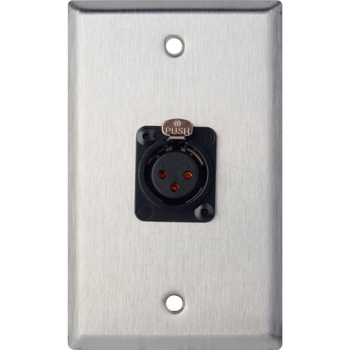 TecNec WPL-1115TB Stainless Steel 1-Gang Wall Plate