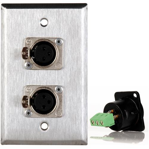 TecNec WPL-1116TB Stainless Steel 1-Gang Wall Plate