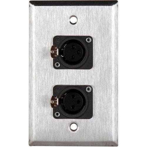 TecNec WPL-1116 Stainless Steel 1-Gang Wall Plate