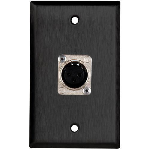 TecNec WPL-1117 1-Gang Wall Plate (Black)