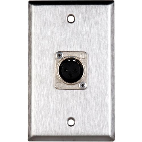 TecNec WPL-1117 Stainless Steel 1-Gang Wall Plate