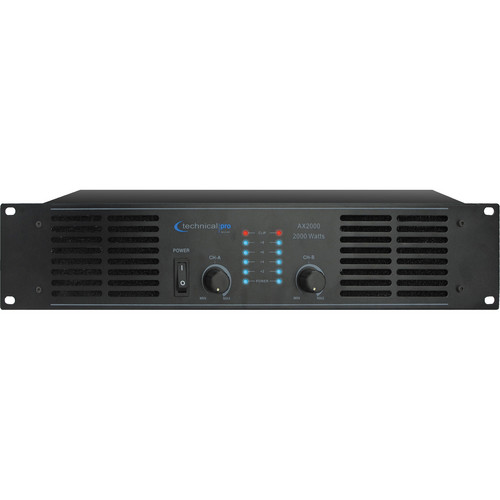 Technical Pro AX2000 2-Channel Power Amplifier
