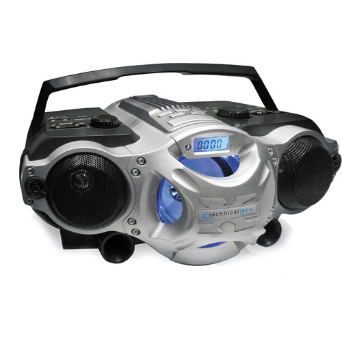 Technical Pro BOOMBOX5 Portable Rechargeable Speaker (Black and Silver)