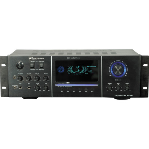Technical Pro IAB640 Integrated Amp with Multicolor LED (Black)