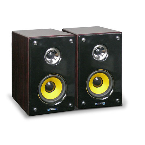 "Technical Pro MRS83U 8"" 2-Way Active/Passive Studio Monitor Speaker System"