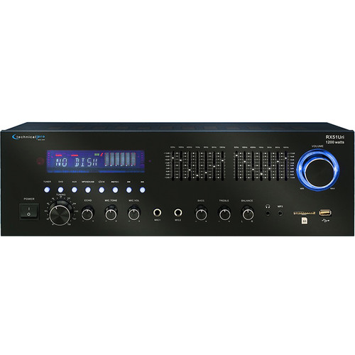 Technical Pro RX51URI Professional Receiver with USB and SD Card Inputs