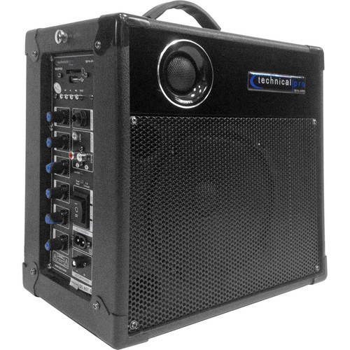Technical Pro WASP400 Portable PA System with Wireless Microphone