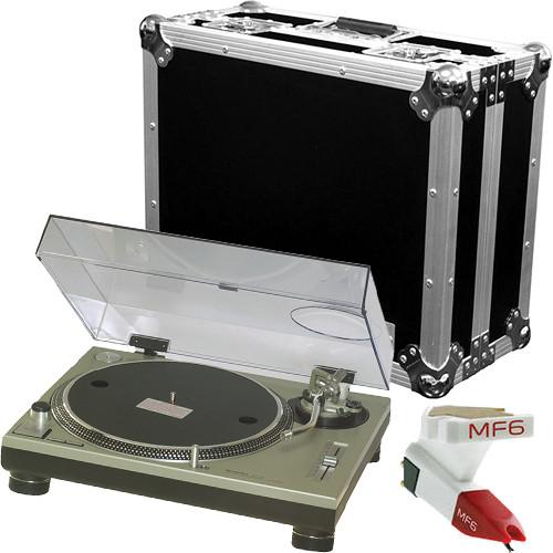 Technics SL-1200MK2 Professional DJ Turntable Kit with Marathon Case (Silver)