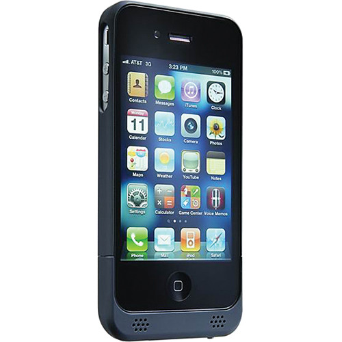 Tekkeon My Power Rechargeable Battery Case for Apple iPhone 4 (Soft-touch Black)