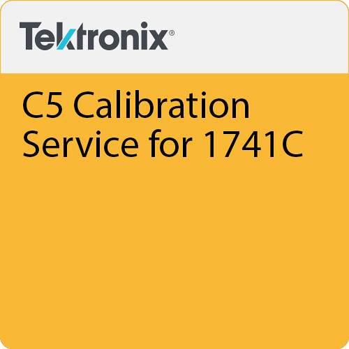 Tektronix C5  Calibration Service for 1741C
