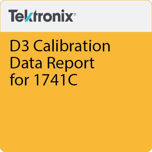 Tektronix D3 Calibration Data Report for 1741C