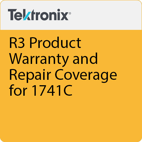 Tektronix R3 Product Warranty and Repair Coverage for 1741C