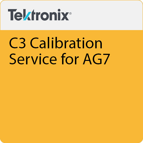 Tektronix C3 Calibration Service for AG7