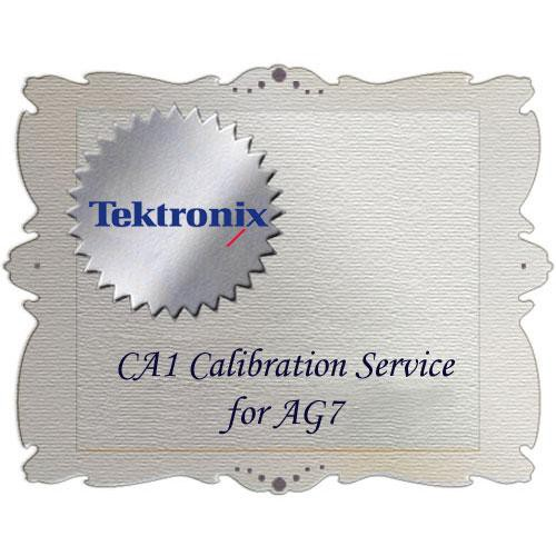 Tektronix CA1 Calibration Service for AG7