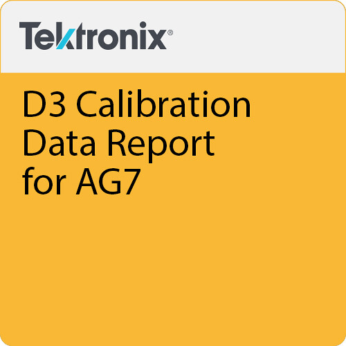 Tektronix D3 Calibration Data Report for AG7