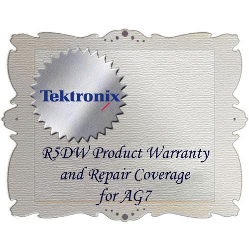 Tektronix R5DW Product Warranty and Repair Coverage for AG7