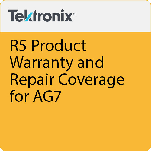 Tektronix R5 Product Warranty and Repair Coverage for AG7