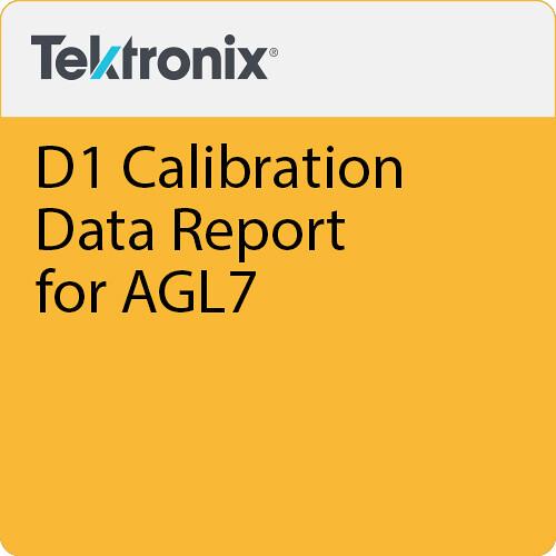 Tektronix D1 Calibration Data Report for AGL7
