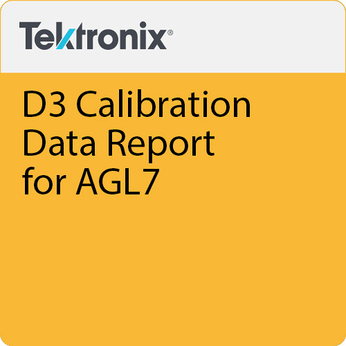 Tektronix D3 Calibration Data Report for AGL7